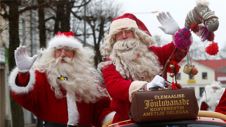"""爱沙尼亚举行""""圣诞老人峰会"""""""