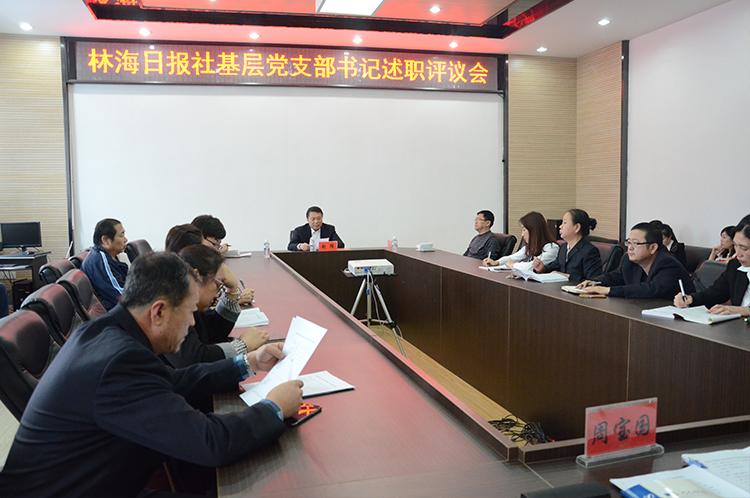 林海日报社党委召开基层党支部书记述职评议会议