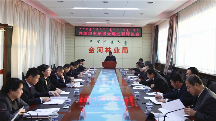 金河林业局党委召开党组织书记抓党建述职评议会
