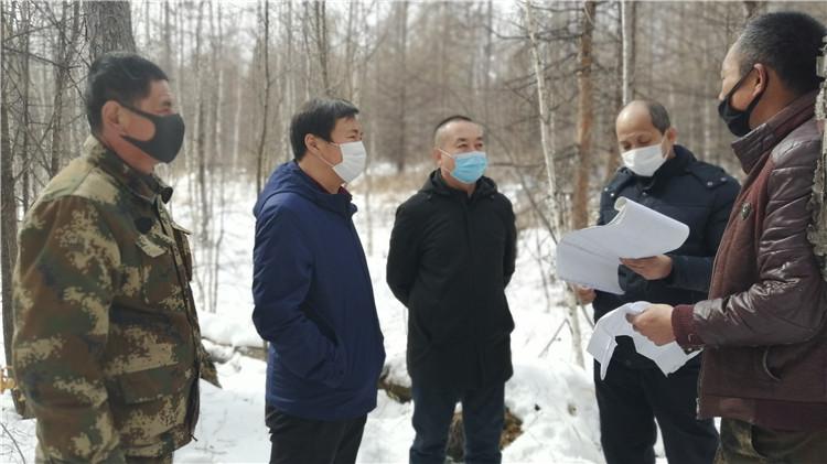 克一河林业局深入现地检查复工复产和疫情防控工作