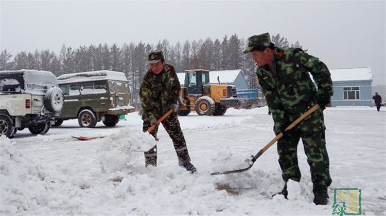 兴阿林场清理积雪保平安