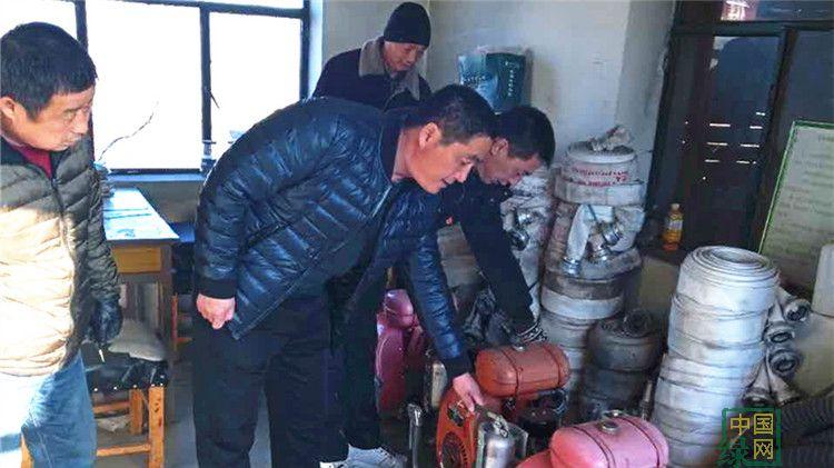 吉文局贮木场开展消防安全大检查活动