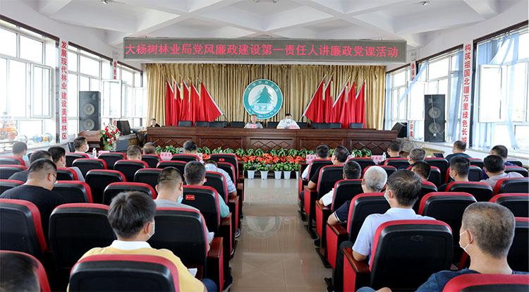 大杨树林业局党风廉政建设第一责任人讲廉政党课