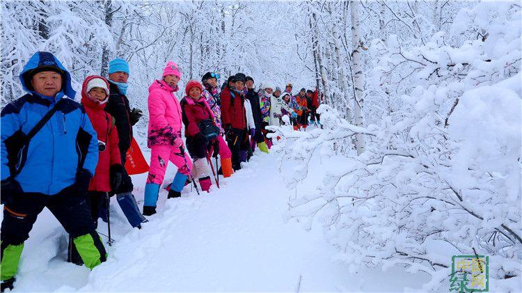 绰尔林业局迎来今冬第二批攀登大黑山团体(摄影:李浩).JPG