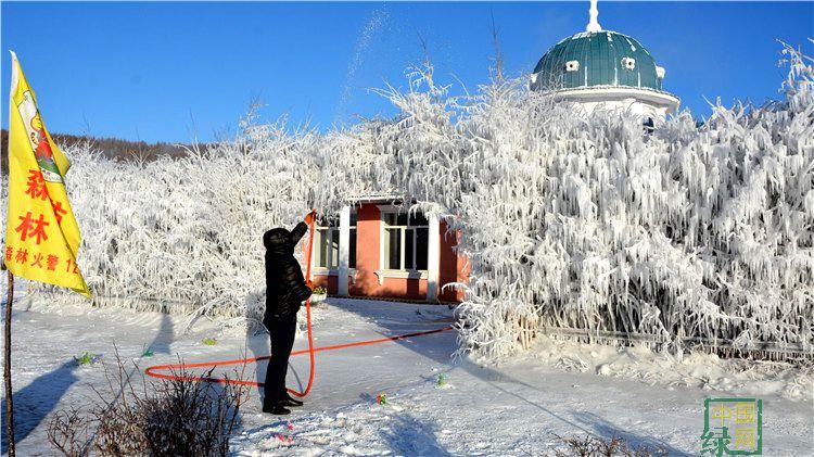 克一河林业局防火防汛处美化环境庆新年