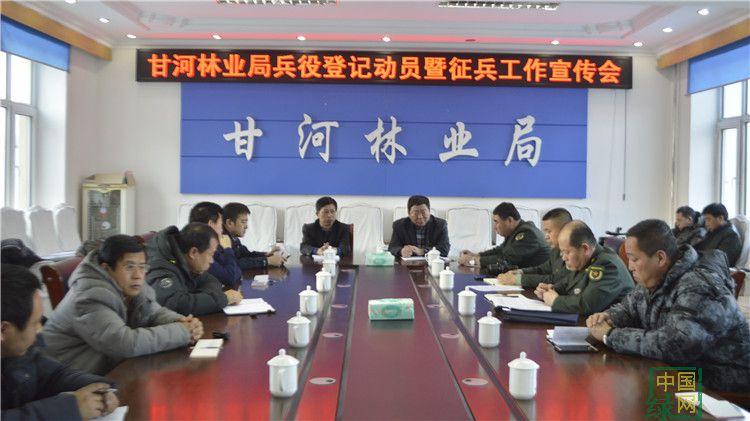 甘河林业局召开征兵宣传会