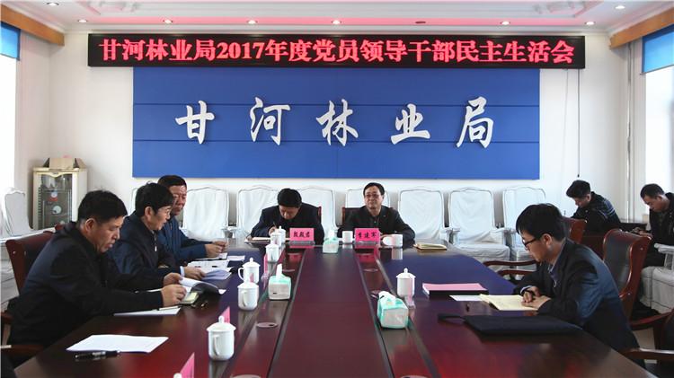 甘河林业局召开2017年度党员领导干部民主生活会