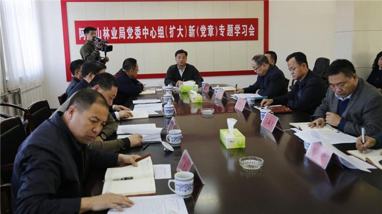 阿龙山林业局召开党委中心组(扩大)新《党章》专题学习会