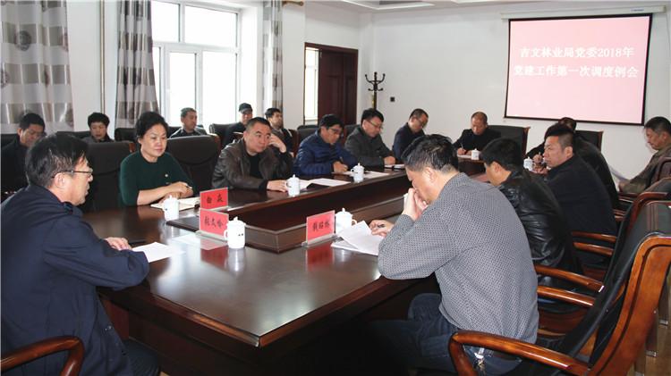 吉文林业局党委召开2018年党建工作第一次调度例会