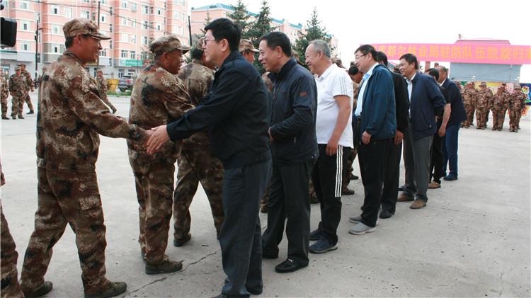库都尔林业局靠前驻防队圆满完成赴乌玛林业局靠前驻防任务