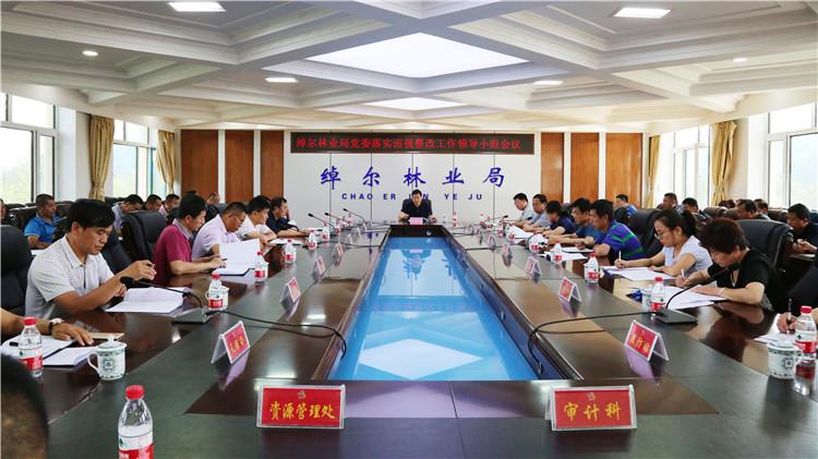 绰尔林业局党委召开落实巡视整改工作领导小组会议