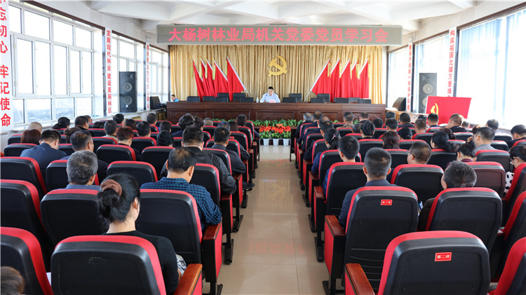 大杨树林业局机关党委召开党员学习会
