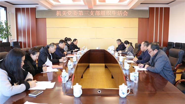 大杨树林业局机关党委第三党支部召开组织生活会和民主评议党员工作