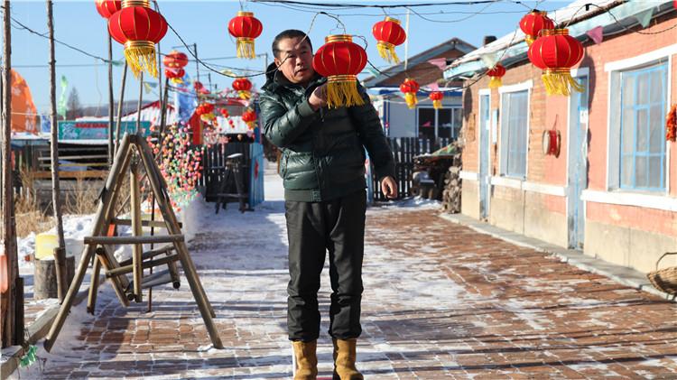 中央二套栏目组到中国冷极村拍摄节目