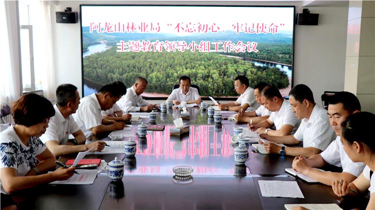 """阿龙山林业局召开""""不忘初心,牢记使命""""主题教育领导小组工作会议"""