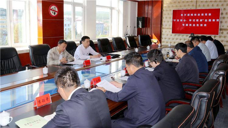 """莫尔道嘎林业局党委召开""""不忘初心、牢记使命""""专题民主生活会"""