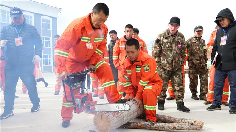 绰源林业局举办森林消防职业技能比武