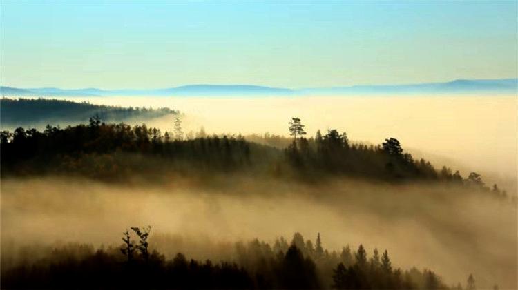 满归林区秋季频现云海奇观 ?