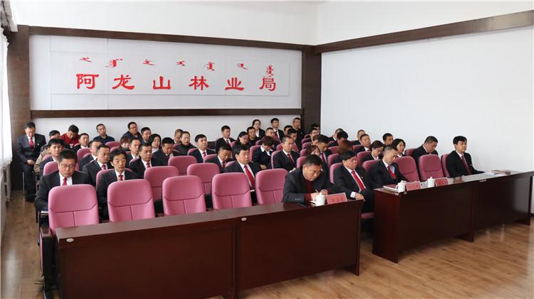 阿龙山林业局召开机关党建工作会议