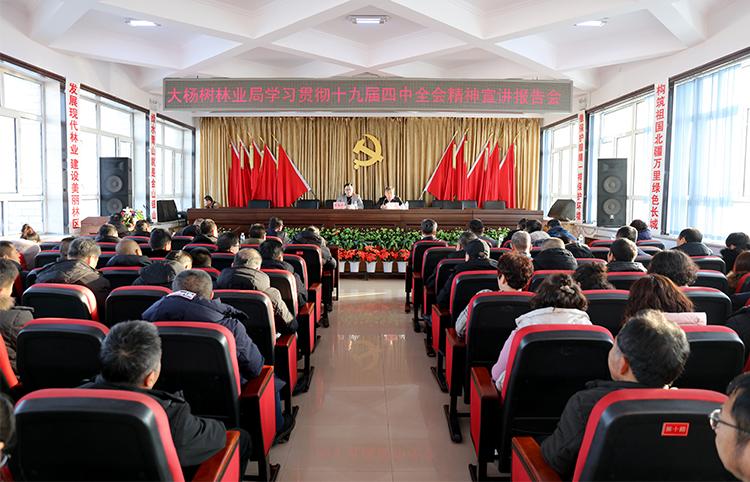 大杨树、根河、金河林业局掀起学习党的十九届四中全会精神热潮