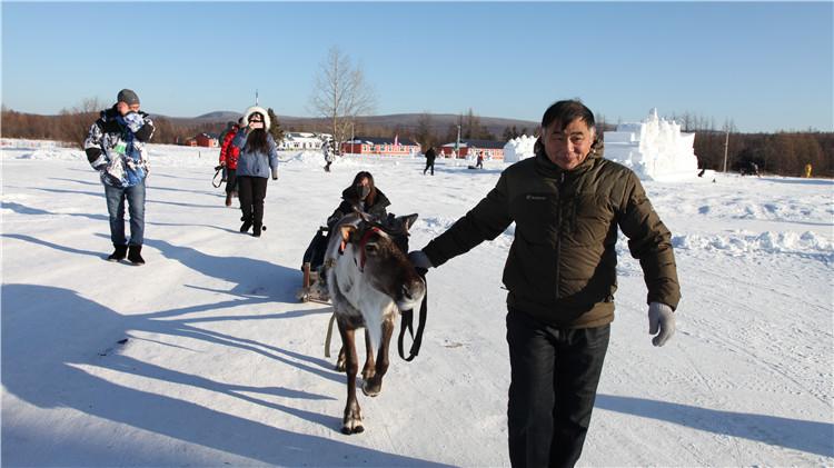 内蒙古大兴安岭森林冰雪越野体验团走进中国冷极村