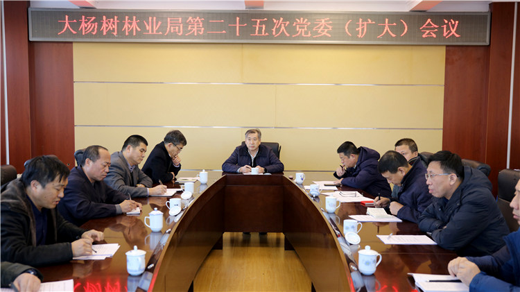 大杨树林业局党委召开第二十五次党委(扩大)会议
