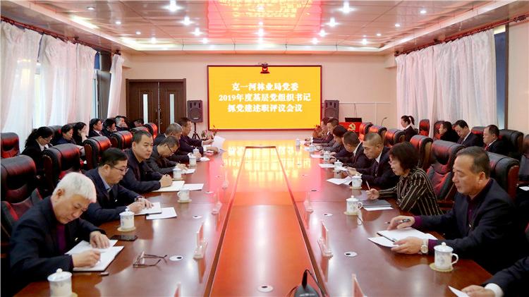 克一河林业局党委召开基层党组织书记抓党建述职评议会