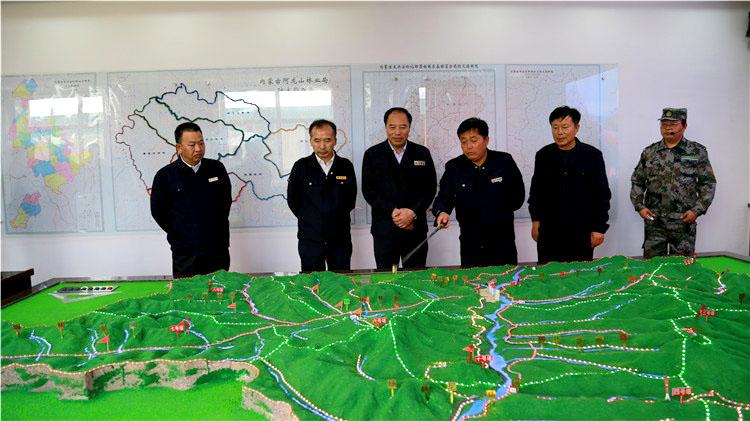 陈佰山到阿龙山林业局检查指导森林防灭火工作