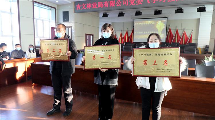 吉文林业局有限公司党委举办《学习强国》答题竞赛