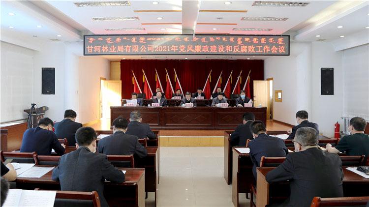 甘河林业局有限公司召开2021年党风廉政建设和反腐败工作会议