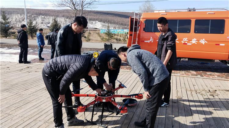 图里河林业局有限公司开展春季无人机防火应急演练
