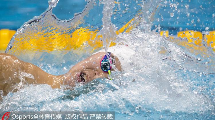 男子400米自由泳孙杨夺首金 成就世锦赛三连冠