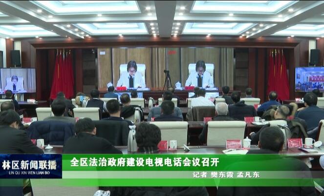 全区法治政府建设电视电话会议召开